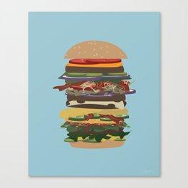 Burger Stack Canvas Print
