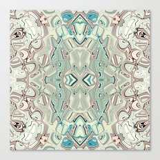 Turquoise And Copper Blend Canvas Print