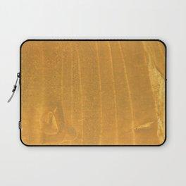 Dark yellow blurred watercolor pattern Laptop Sleeve