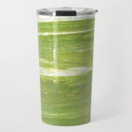Moss green abstract watercolor Travel Mug