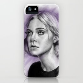Elle Fanning Drawing - Spatter Series iPhone Case