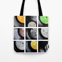 vinyl Tote Bags featuring Vinyl by Kitsmumma