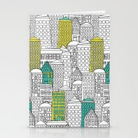 building Stationery Cards featuring Building by AlakaZoo