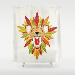 lion feathers Shower Curtain