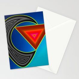 Black absorbing red ... Stationery Cards