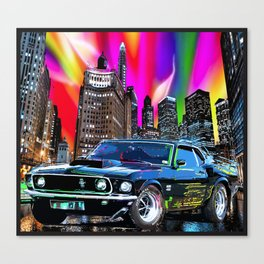 colorful muscle Canvas Print