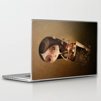 cage Laptop & iPad Skins featuring Gold Cage by José Luis Guerrero
