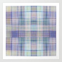 Scottish tartan pattern deconstructed Kunstdrucke