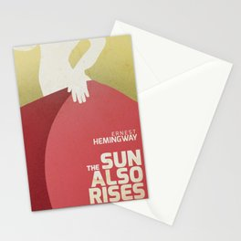 The sun also rises, Fiesta, Ernest Hemingway, classic book cover Stationery Cards