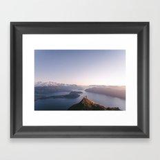 Top of the world - Wanaka Roys Peak Framed Art Print