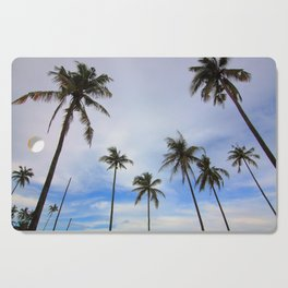 Tropical Palm Tree Landscape Cutting Board