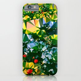 Abstract Garden Low Poly Geometric Triangles iPhone Case