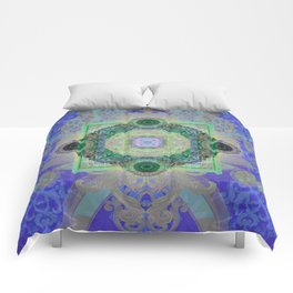 Luminous Mind Invisible Realms of Beauty Mandala Comforters