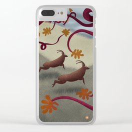 Bright Sentinels Patrol the Caerffyddin Hills Clear iPhone Case