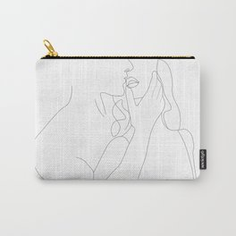 Couple - Minimal Line Drawing Carry-All Pouch
