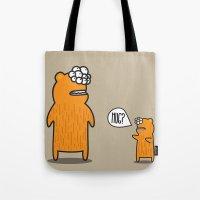 hug Tote Bags featuring Hug? by JRosas