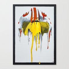 Orange living room 2 Canvas Print