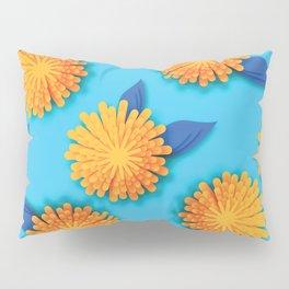 Dandelions on Aqua - Midcentury Style Pillow Sham