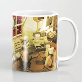 Observing what's out there, a space sci fi collage Coffee Mug