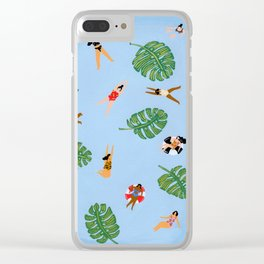 Floating in the sea Clear iPhone Case