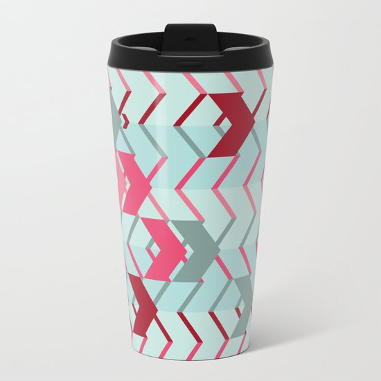 ArrowZigZag Metal Travel Mug
