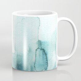 Soft teal abstract watercolor Coffee Mug