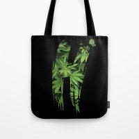 marijuana Tote Bags featuring Marijuana H by Spyck