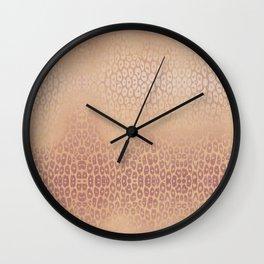Gold Pink Leopard Wall Clock