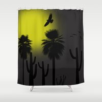 desert Shower Curtains featuring desert by Bamse