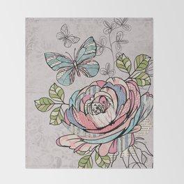 Paper Flowers #2 Throw Blanket