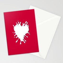 Splatter Heart Stationery Cards