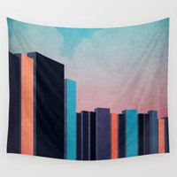 skyline Wall Tapestries featuring Skyline by Liall Linz