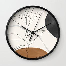 Abstract Art /Minimal Plant Wall Clock