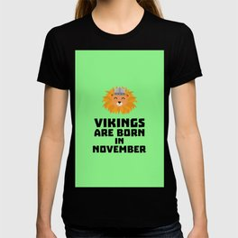 Vikings are born in November T-Shirt Dur82 T-shirt