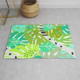 Green quiet jungle Rug