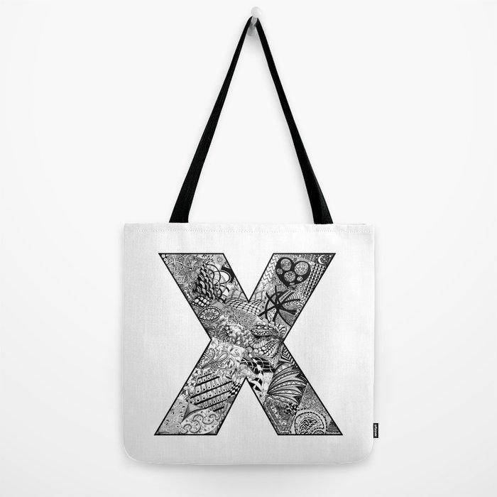 Cutout Letter X Tote Bag