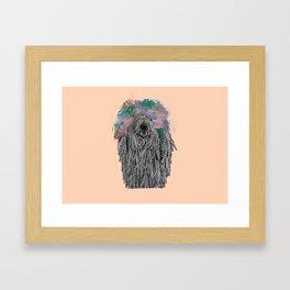 Dredlock Dog (Pastel Orange Edition) Framed Art Print