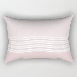 Strawberry Cream Ripples Rectangular Pillow