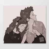 twins Canvas Prints featuring twins by JohannaTheMad