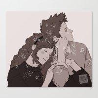 johannathemad Canvas Prints featuring twins by JohannaTheMad