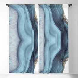 Light Blue Agate Blackout Curtain