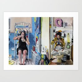 Broad City Bathroom Bong Rip Art Print