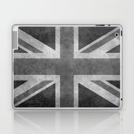 Union Jack Vintage 3:5 Version in grayscale Laptop & iPad Skin