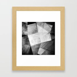 Black and White Cubism Framed Art Print