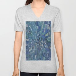 Abstract blue pattern 5 Unisex V-Neck