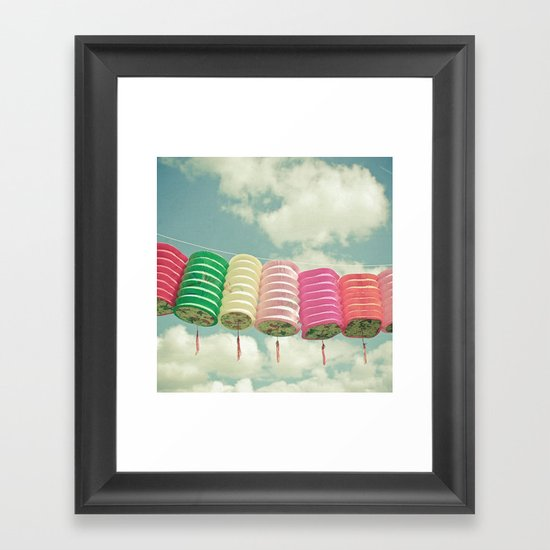 Chinese Lanterns Framed Art Print