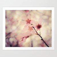 blush Art Prints featuring Blush by Jenndalyn