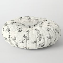 House Fly chaos Floor Pillow