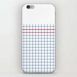 Dotted Grid Boarder Blue Red 2 iPhone Skin