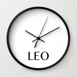 Leo {Astrology Zodiac Sign} Wall Clock